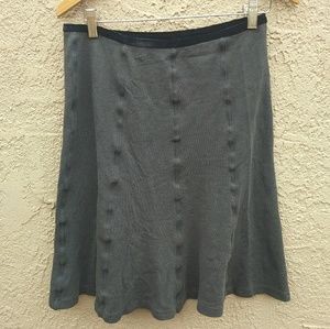 Horny Toad Flexcel A Line Grey knit Skirt
